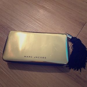 MARC JACOBS gold tassel clutch with mirror